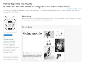 Berkeley mobile field guide reviews hardware and software in interactive format