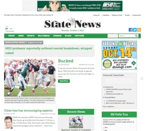 Redesigns 2012: MSU State News
