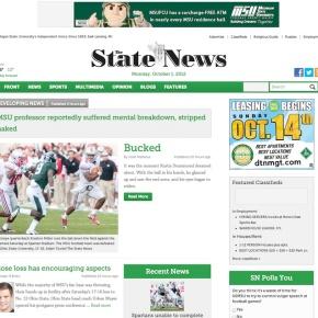 Redesigns 2012: MSU StateNews