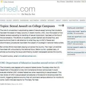 Daily Tar Heel sexual assault aggregation page hopes to spotlight reporting around the country