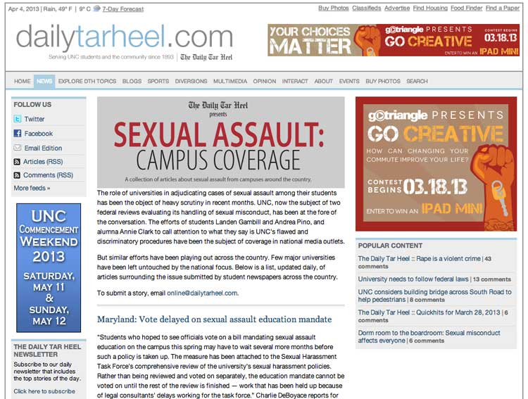 Many Universities Undercount Sexual Assaults on Campus.