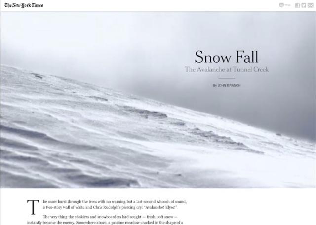 NYT Snow Fall