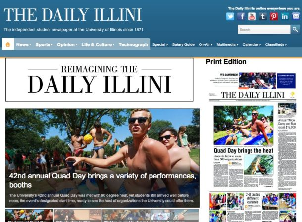 Daily Illini web site