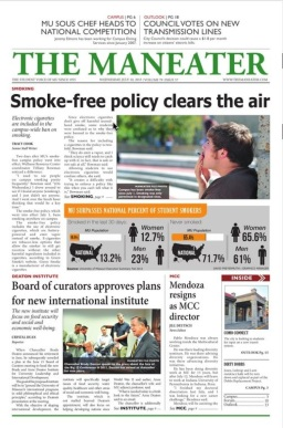 front page of the Maneater from July 2013
