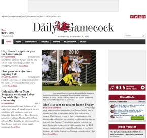 Redesigns 2013: University of South Carolina The Daily Gamecock