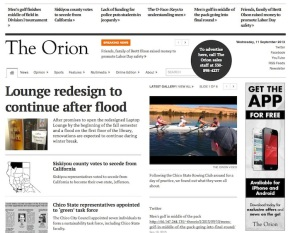 Redesigns 2013: The Orion, CSU-Chico