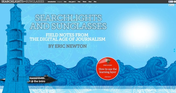 Searchlight and sunglasses